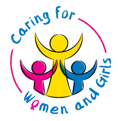 IIW with Caring for Women and Girls Logo