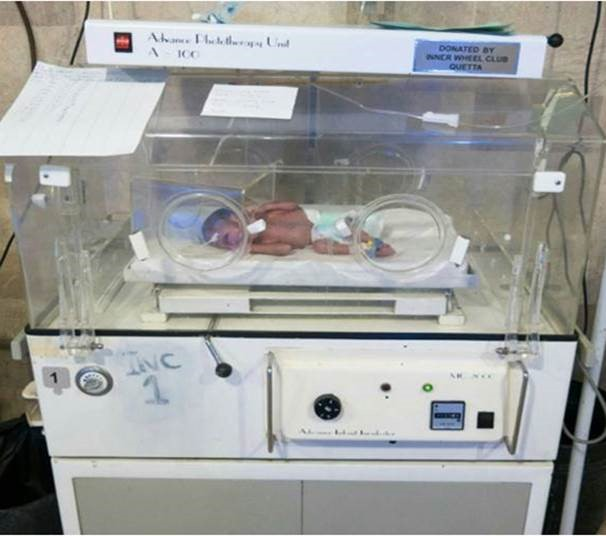 Donation of Incubators to the Civil Hospital.