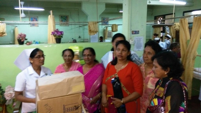 Cancer Ward, GH-Donation of injections, medicines and  milk food