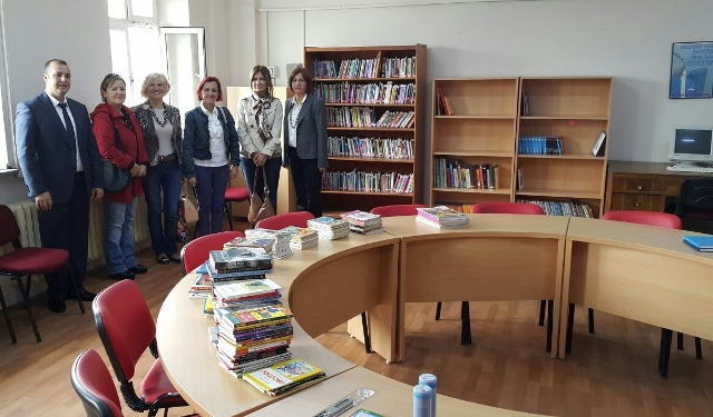 Book donation to The Elementary  School of Atatürk