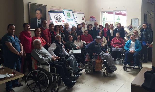Financial support and food aid was made to The Beylikdüzü branch of Spinal Cord Injury Association