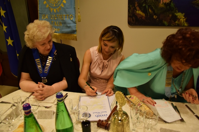 President Cristina signing the Charter