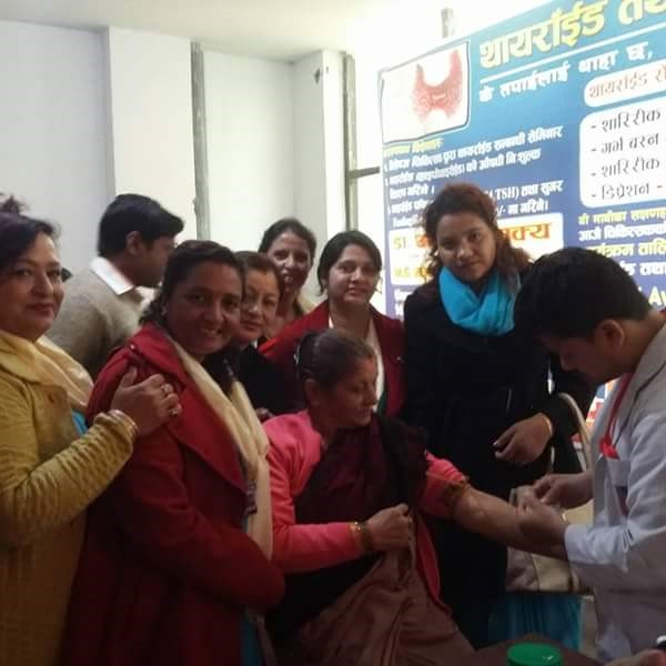 Health Camp Diabetics and Thyroid Check-up conducted by Inner Wheel Club of Butwal Mid-Town.