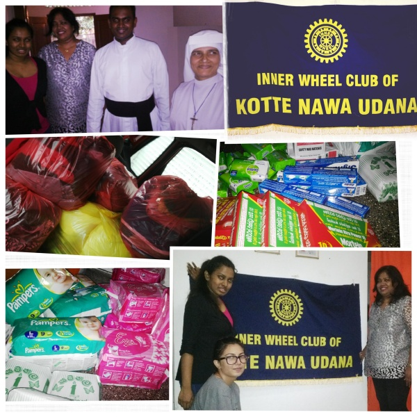 Food and Clothing donations, IW Club Kotte Nawa Udana