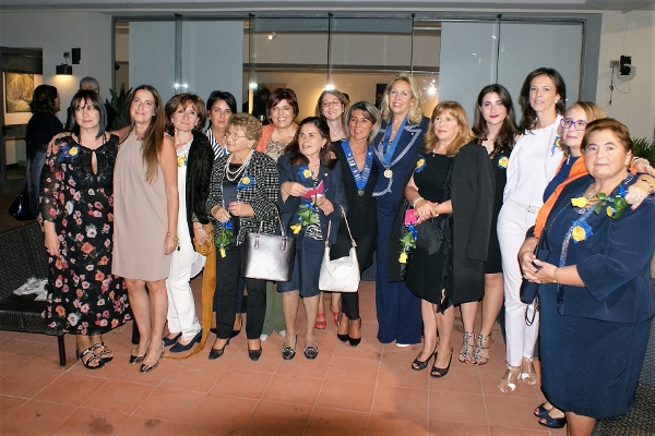 NC  President Alessandra Colcelli, Club President Leonarda Scrocco and Club Members